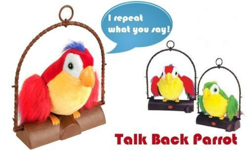 Wish Fur Real Friends Talk Parrot Toy Electronic Toys Plush Talking Repeat Bird For Kids