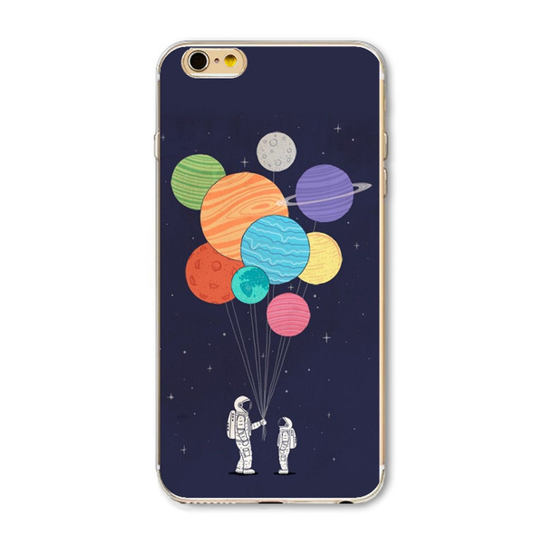 buy popular b0d81 7db55 New Arrival Universe Outer Space Star Beautiful Girl Painted Phone Cases  For iphone 5 5s 5c 6 6s 6Plus 6sPlus 7 7Plus Soft Silicon Case