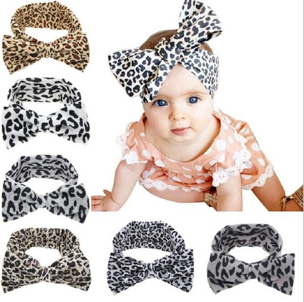 Bow Hairband Headband Stretch Cute Turban Knot Head Wrap for Girls Kids Baby HA