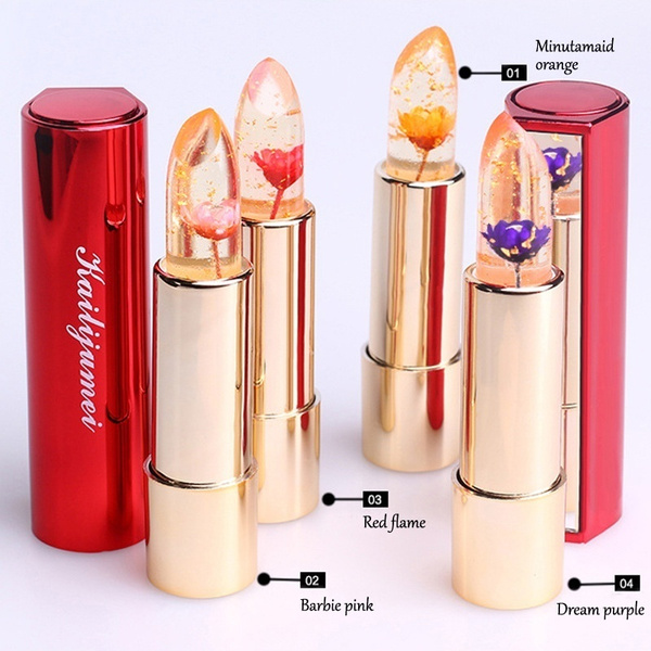 Picture of 1pcs Hot Kailijumei Bright Flower Crystal Jelly Lipgloss Magic Change Color Moisturizer Lip Balm Lipstick