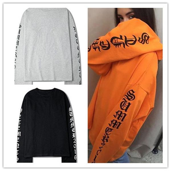 Crewneck Sweatshirt, shirtsamptop, Korea fashion, Cotton T Shirt