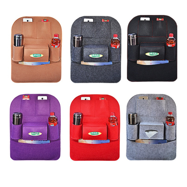 Auto Car Back Seat Storage Pouch Bottle Magazine Cup Food Bag Organizer