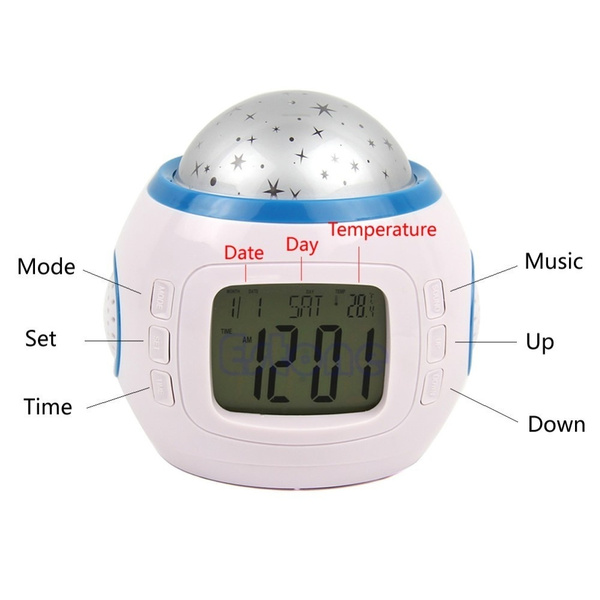 New Starry Sky Music Projector electronic calendar LED Clock colourful creative multi-function LED Clock