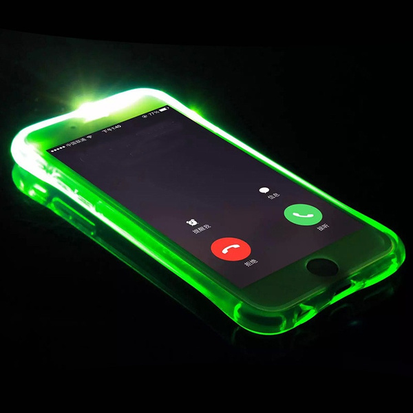 2017 Luxury New Soft TPU LED Flash Light Up Remind Incoming Call Case Cover For iPhone 7 7 Plus 6 6S Plus iPhone 5S SE