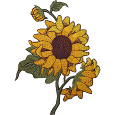 Flowers, sunflowerpatch, Sunflowers, embroiderypatch