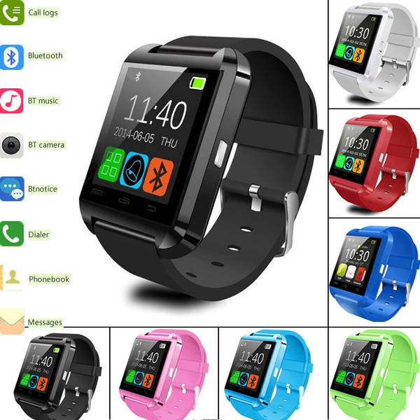 Picture of High Quality Multifunction Bluetooth Smart Watch U8 Digital Sport Watches For Android Phones 6 Colors