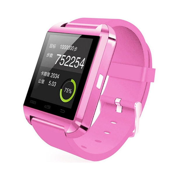 High Quality Multifunction Bluetooth Smart Watch U8 digital sport watches For iOS Android Phones 6 Colors