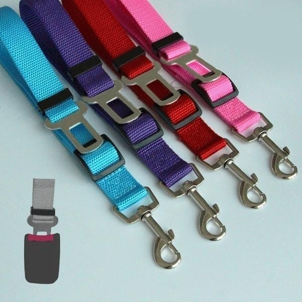 TOME Vogue Adjustable Vehicle Car Harness Lead Safety Pet Dog Cat Seatbelt Seat Belt