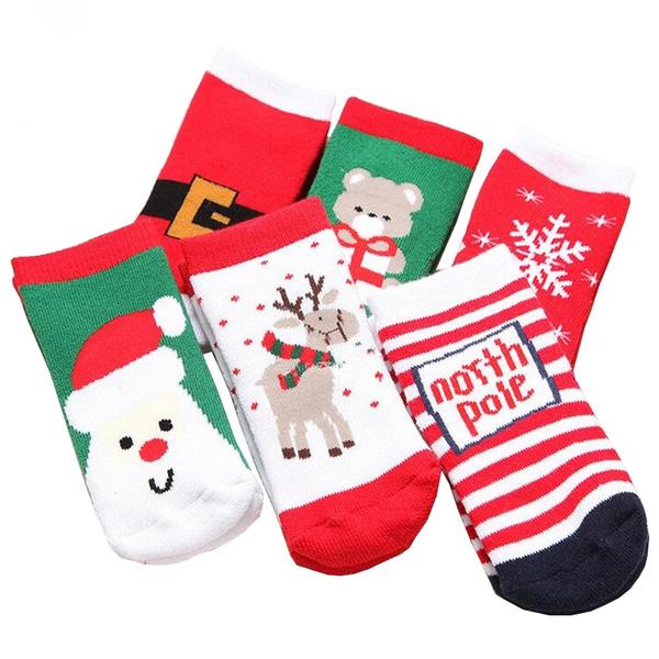 Boys Christmas Socks.New Fashion Boys Girls Socks For Baby Kids Toddler Christmas Style Cotton Knitted Children Sock 1 3 Years