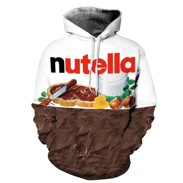 data di rilascio e9633 2602e Nutella Chocolate Hoody Sweatshirt Outwear For Women/Men Autumn/Winter  Pullover Print Jumper Spring Sportwear Women