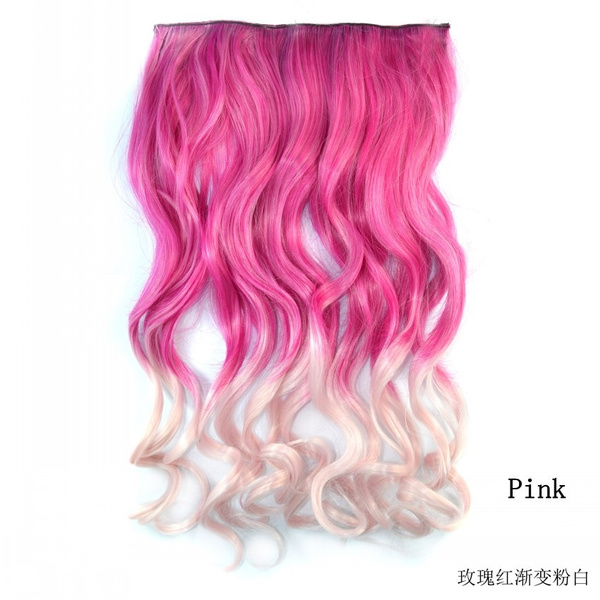 Wish Ombre Anime Cosplay Kinky Curly Hair Piece Clip In Hair