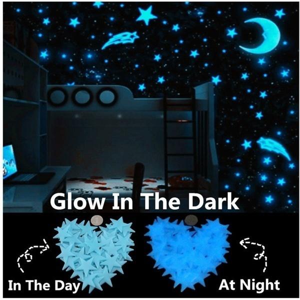 moonstarswallsticker, Star, Home & Living, lights