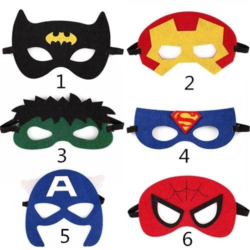 7ff9cbdfebaf4 Halloween Superhero Masks Superman Batman Spiderman Avengers Kids Party  Birthday Costume Supe