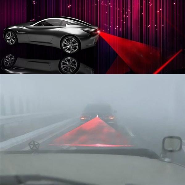 Car Auto LED Fog Light Anti-collision Rear Tail Lamp Brake Warning Laser Light