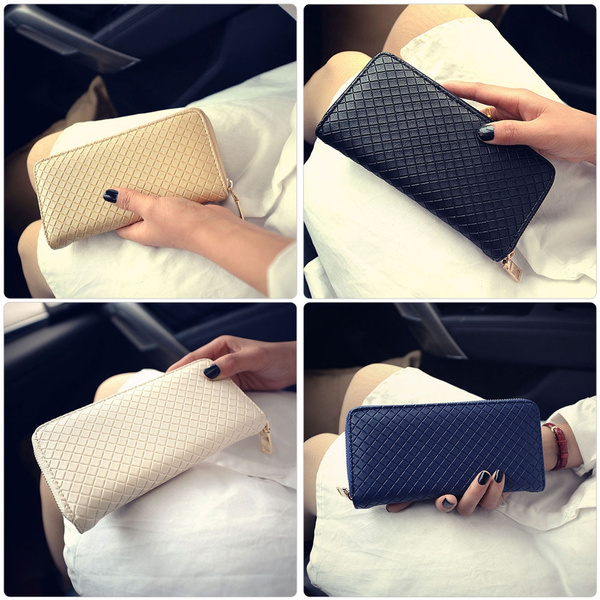 Picture of Lady Leather Clutch Bag Wallet Long Card Holder Case Purse Black Uk Stock