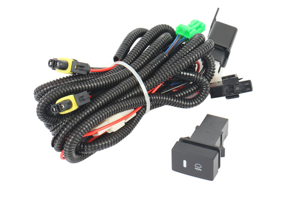 wish   forti usa   wire harness relay kit with switch for us honda fit fog  lights