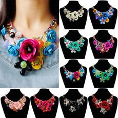 Fashion, Jewelry, fakeflowersnecklace, women necklace