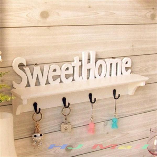 Sweet Home Style 4 Hooks Storage Shelf