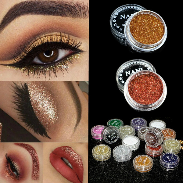 Picture of 4pcs/set Diamond Shimmer Eye Shadow Pigment Face Body Lips Glitter Powder Makeup Highlighter Brightens Professional Cosmetics