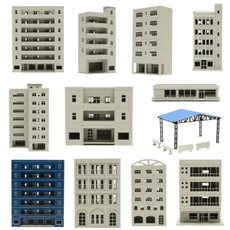 building, modeltrainbuilding, School, citybuildingmodel