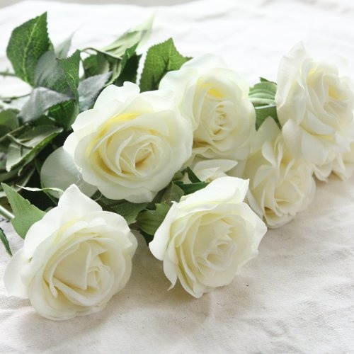 Wish wholesale artificial silk latex rose flowers wedding bouquet wish wholesale artificial silk latex rose flowers wedding bouquet bridal decoration bundles flower bouquets realistic flower bouquet the light color rose junglespirit Gallery