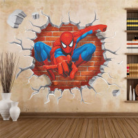 3D The Amazing Spider-Man Home Decoration Wall Stickers