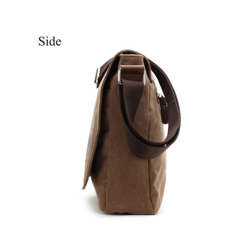 Types Of Bags Handbag Schoolbag Included 1 Fashion Men Vintage Canvas Messenger Shoulder Bag Crossbody School Satchel