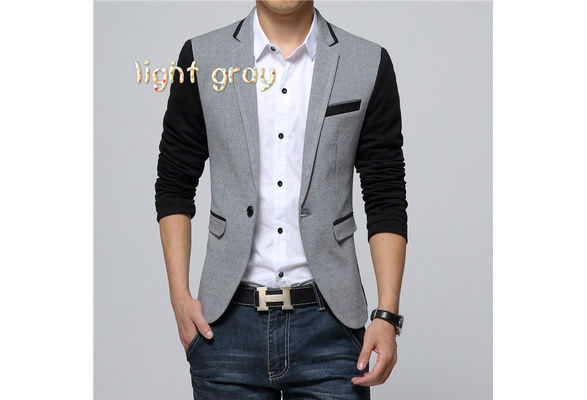 2016 New Fashion Casual Men Blazer Cotton Slim Korea Style Suit Blaser Masculino Male Suits Jacket Blazer Men Plus Size M-6XL