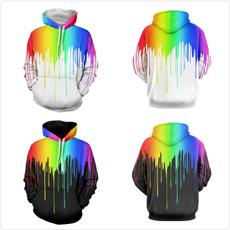 rainbow, autumnsportswear, blackwhitehoodie, pullover hoodie
