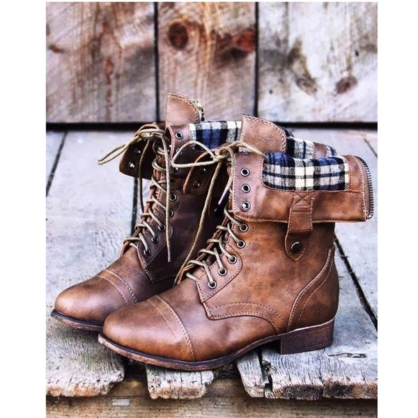 Picture of Classic Women's Winter Shoes For Sexy Ladies Warm Fur Buckle Ankle Boot