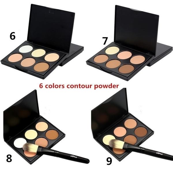 Picture of Makeup Corrector Bronzer Palette + Powder Brush Face Contour