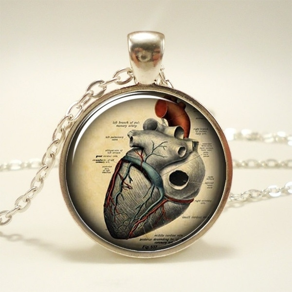 Wish | Anatomical Heart Necklace, Anatomy Jewelry