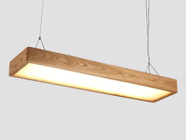 Wish 32w Led Rectangle Wooden Pendant Lights Light Lampshade Fixtures Lighting Office Hanging Lamps Study Studio Lightings