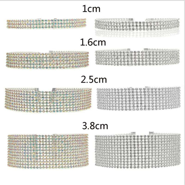Fashion Personality Jewelry Female Full Diamond Choker Short Necklace