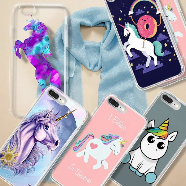Picture of Beautiful Unicorn Printed Phone Case For Iphone 5 5c 6/6s 6 Plus7/7 Plus /Samsung Galaxy S5 S6 S6 Edge S7/edge/s8 Plus/note 5 4/htc M9 M8/huawei/ Etc