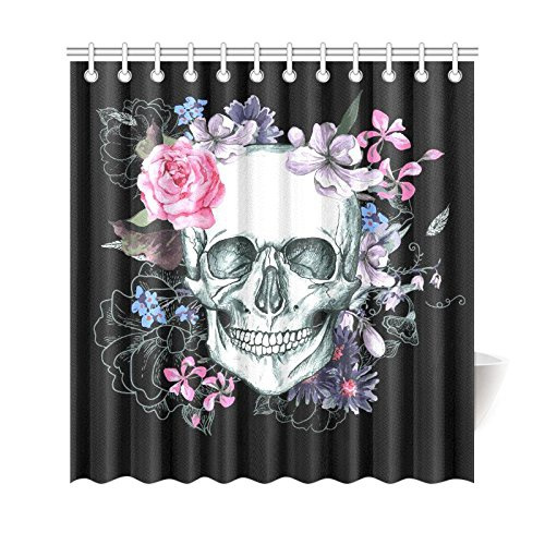 Sugar-Skull-Shower-Curtain | Wish