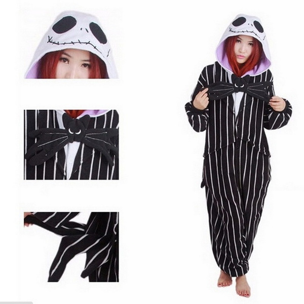 9bf3e126ff wish the nightmare before christmas jack skellington kigurumi costumes  pajamas size xl bl