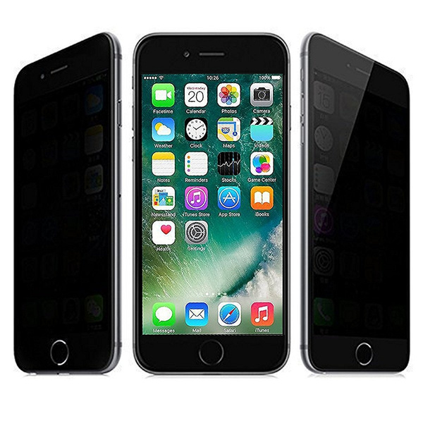 check out ea6b4 77e8d Anti Spy HD Privacy Tempered Glass Screen Protector for iPhone 5/ 5s/ SE/  6/ 6s/ 6 Plus/ 6s Plus/ 7/ 7 Plus/ 8/ 8 Plus/ iPhone X/ Samsung S4/ S5/ S6/  ...