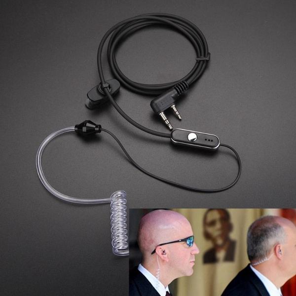Picture of Acoustic Tube Mic Earpiece Earphone For Baofeng Retevis Radios