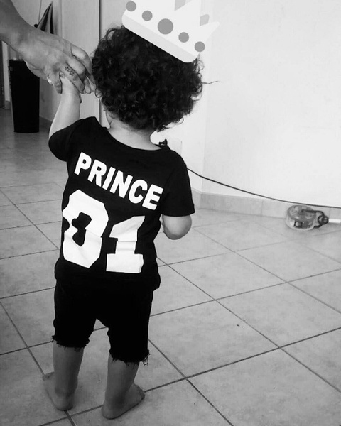 New Fashion Family Kids Daughter Son Clothes Matching Princess Prince Shirt Letter Print Casual Short Sleeve T-Shirt (0-10 Years)