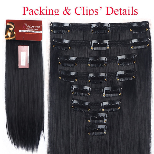 Wish Real Thick Double Weft 8piece Full Head Clip In Hair