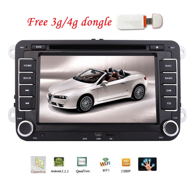 Free 3G/4G Dongle for Android 5 1 1 EinCar 7 inch Volkswagen Head Unit Car  Stereo Audio 2 Din Car DVD Player WiFi Autoradio Bluetooth System for