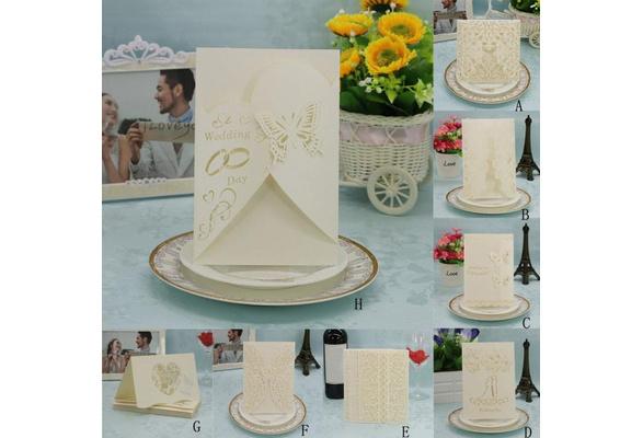 20 Pcs Fancy Delicate Carved Romantic Wedding Party Invitation Card Envelope