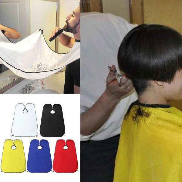 Beard Shave Apron Cape Cloth Bib Facial Hair Whisker Trimming Grooming Catcher