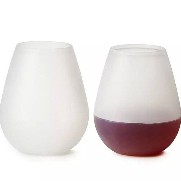 Foldable Silicone Wine Glasses Unbreakable Collapsible Stemless Beer Whiskey Glass Drinkware