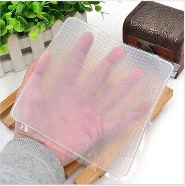Multifunctional Silicone Food Saran Wrap Clear Reusable Silicone Wraps Seal Cover Stretch Fresh Keeping Kitchen Tools Cooking