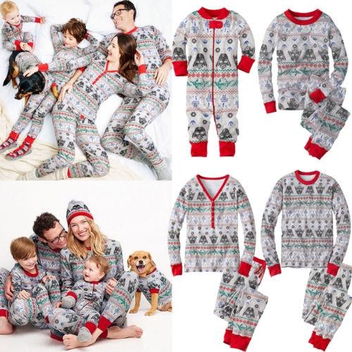 Christmas Family Pajamas Set.Christmas Family Pajamas Set Star Wars Print Snowflake Infant Baby Mom Dad Sleepwear Nightwear