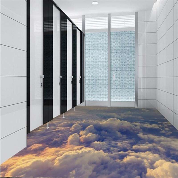 Wish Largescale D Threedimensional Floor Sticker Sky White - 3 dimensional floors