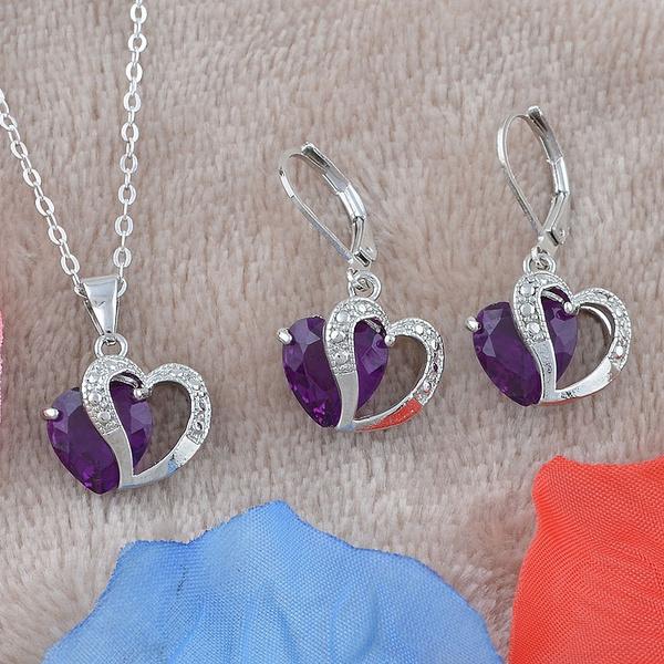 Sterling, purpleamethyst, 925 sterling silver, Necklace