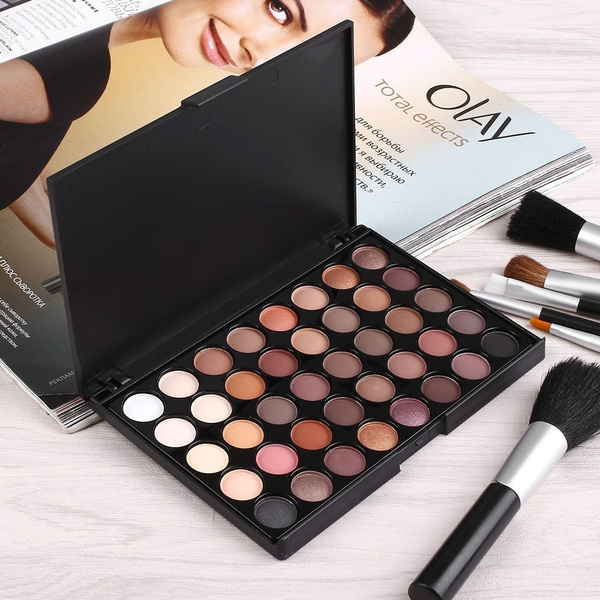 Fashion 40 Colors Matte Luminous Eyeshadow Palette Cosmetic Makeup Eye Shadow Colorful